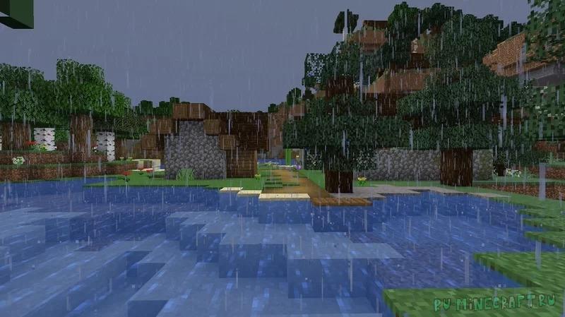 Rain Revamp - реалистичный дождь [1.17.1] [16x]