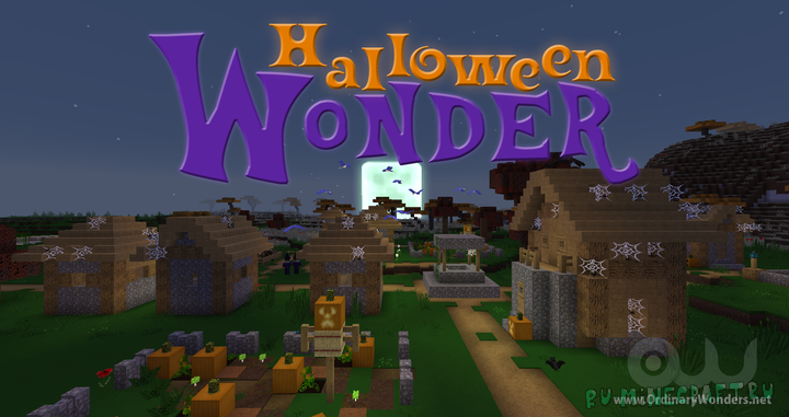 Halloween Wonder Eclipse - хеллуин везде [1.17.1] [1.16.5] [1.15.2]  [64x]