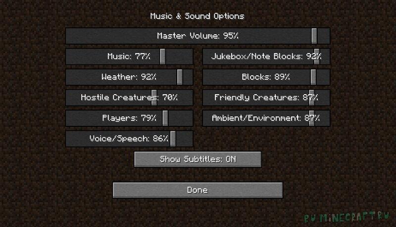 Dynamic-Audio Realistic soundpack - реалистичные рандомные звуки [1.18] [1.17.1]
