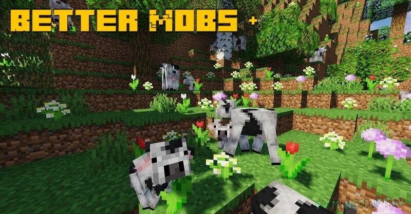 Better Mobs + - новые улучшенные мобы [1.17.1] [16x]