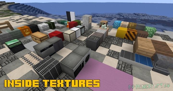 Inside Textures - реалистичные текстуры для города [1.17.1] [1.16.5] [1.13.2] [32x]