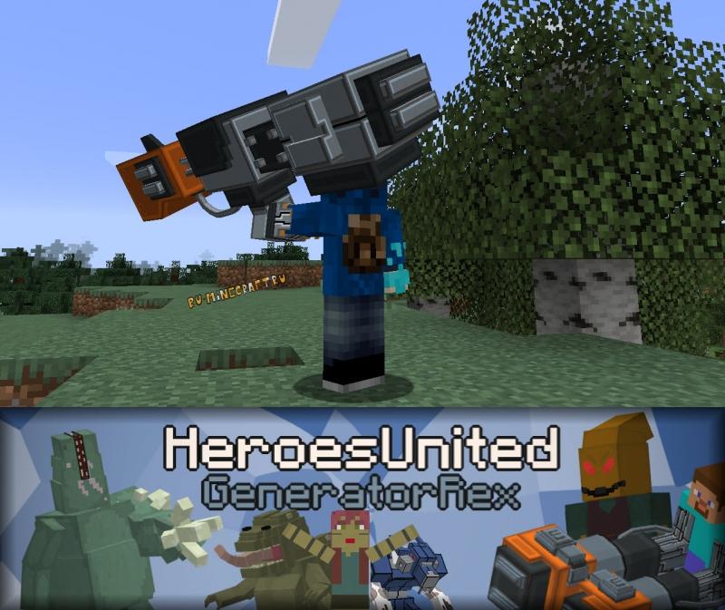 Heroes United: Generator Rex - мод по Генератор Рекс, супергерой Рекс [1.16.5]
