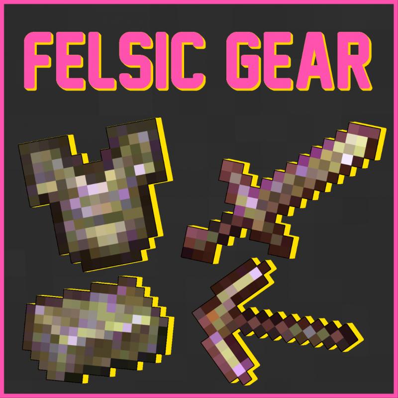 Felsic Gear - мощная броня в конце игры [1.16.5]