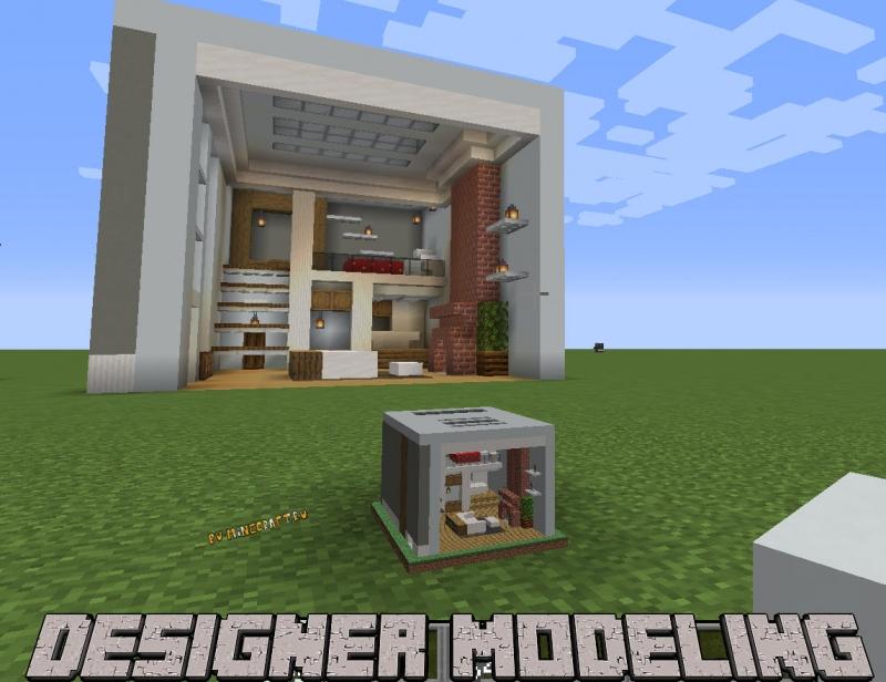 Designer Modeling - миниатюрный блок для декора [1.17.1] [1.16.5]
