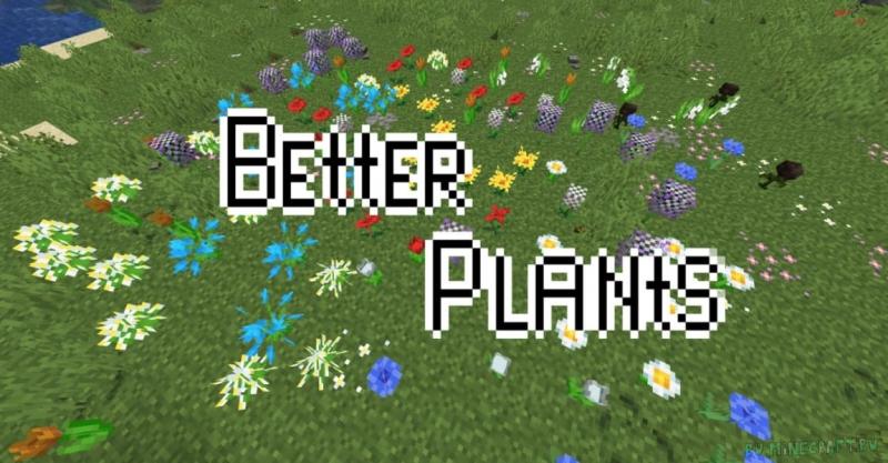 Better Plants - текстуры улучшенной природы и растений [1.17.1] [1.16.5] [16x]