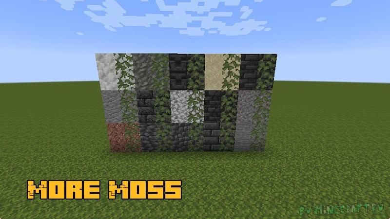 More Moss - больше блоков со мхом [1.17.1]