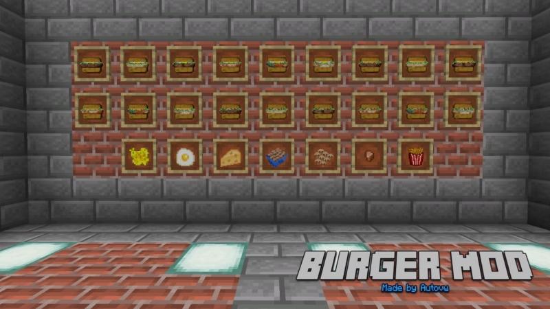 Autovw's Burger Mod - мод на бургеры [1.17.1] [1.16.5] [1.15.2] [1.14.4] [1.12.2]