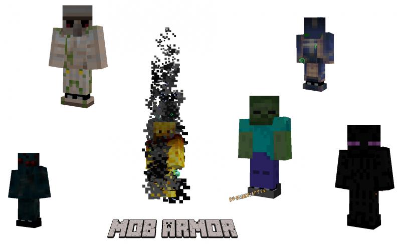 Mob Armor Mod - броня делающая мобом [1.16.5] [1.12.2] [1.8.9] [1.7.10]