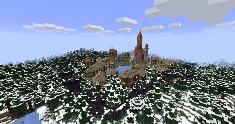 Village in The Snowy Taiga - Карта деревни в тайге [1.16.5]