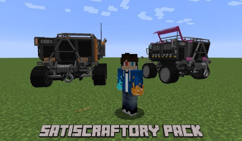 SatisCraftory Pack - транспорт из Satisfactory [1.12.2]