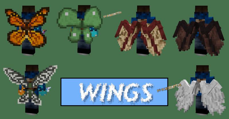 Wings - крылья для полётов [1.16.5] [1.12.2]
