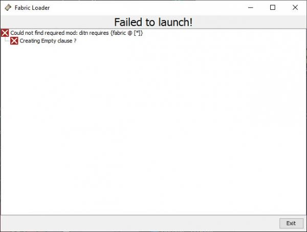 Ошибка Could not find required mod: requires {fabric @ </li><!--dle_li--><li>}