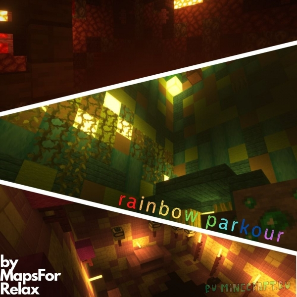 rainbow parkour - паркур карта [1.16.5]