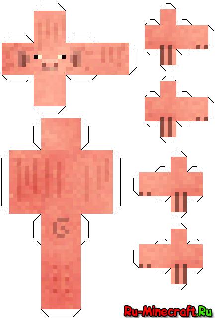 Бумажные фигурки из майнкрафта.