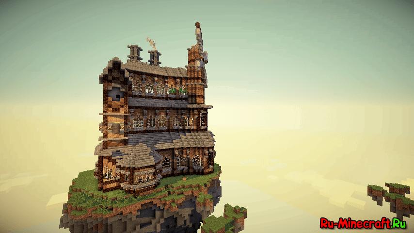 большие и красивые дома в майнкрафт