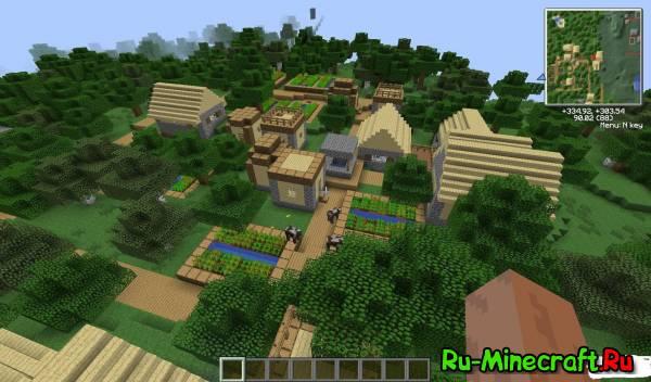 Майнкрафт деревня как сделать