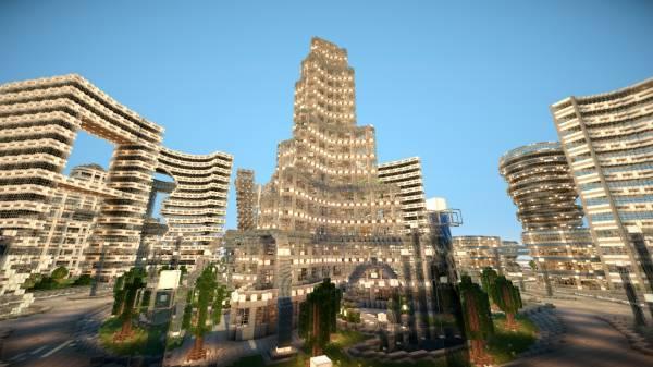 [Map] Futuristic City - Area 73-5 - огромный и шикарный город для майнкрафта