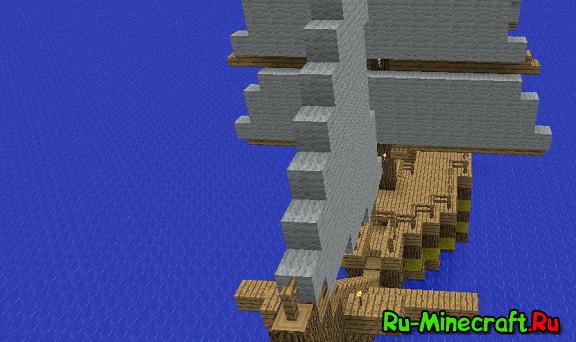 Карта Средневековый Город Minecraft.Rar