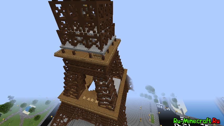 Map eiffel эйфелева башня в minecraft