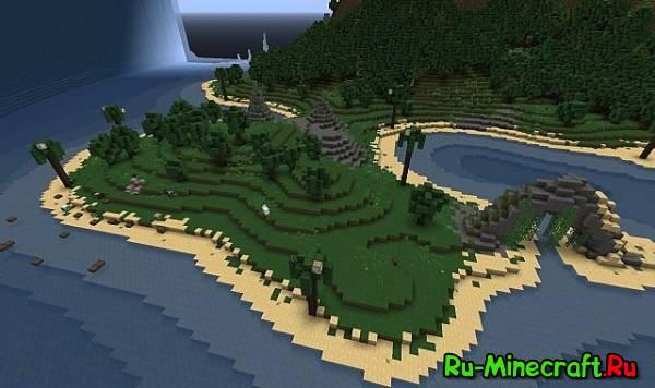 [MAP] Sunken island adventure - очень красивый остров на прохождение