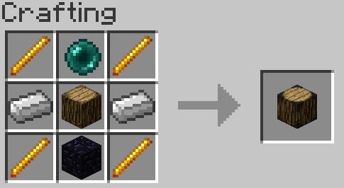 Следующаяя бочка, крафтится следующим образом, и вмещает в себя: 1024 стака любых вещей