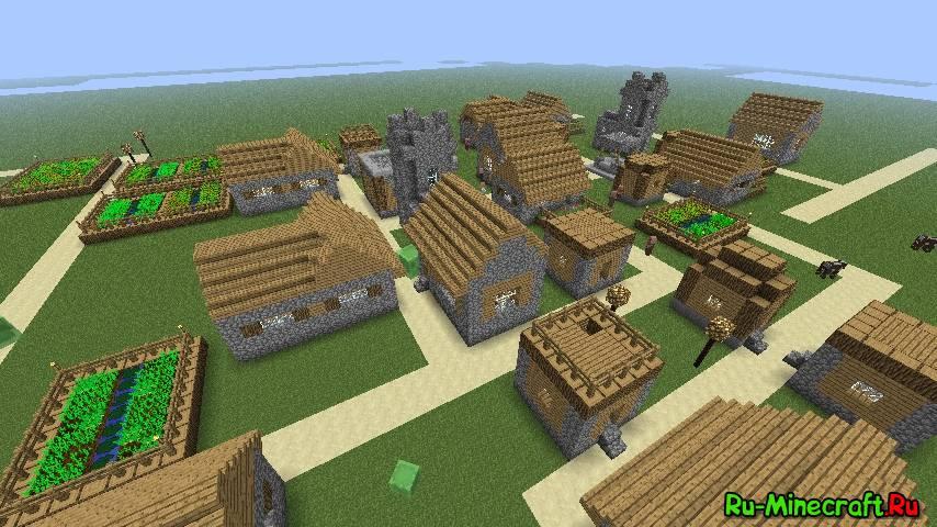 Как в майнкрафте сделать деревню с жителями