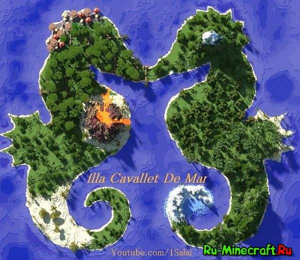 карта острова майнкрафт 1 6 4