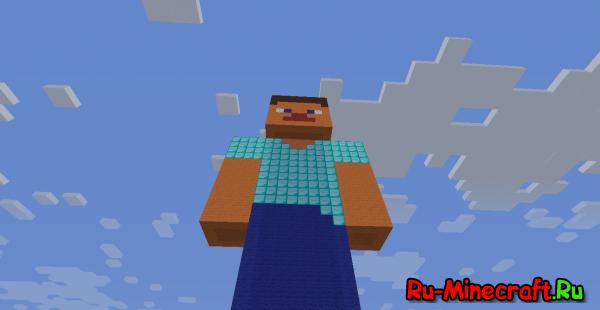 Minecraft steve statue