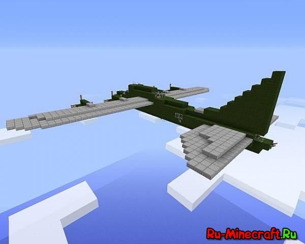 Как в майнкрафте сделать военный самолет