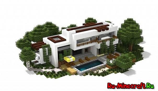 Map modern houses bundle 10 домов в стиле модерн