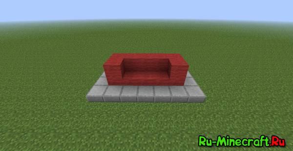 Как сделать диван из шерсти в майнкрафте