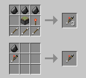 Майнкрафт рецепты стрела