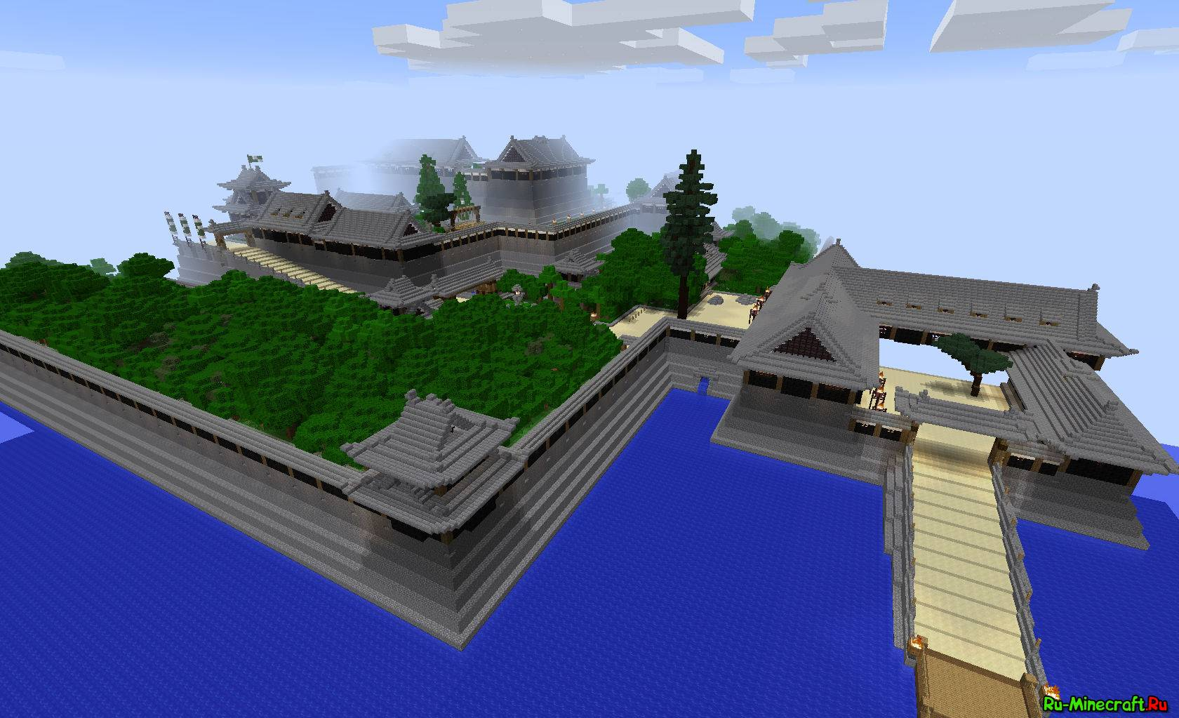 Map hatsumoto jo a japanese castle японский замок 1