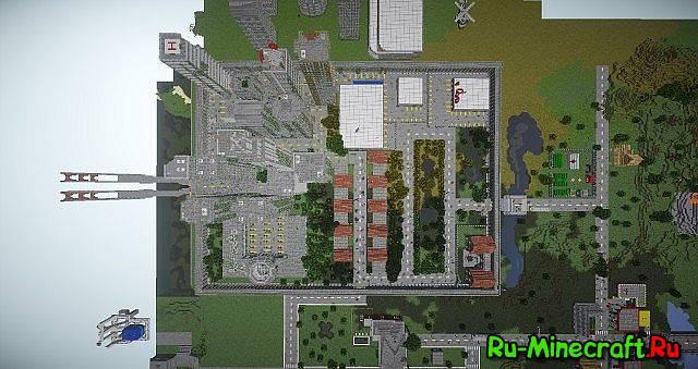 скачать карту для майнкрафт 1.5.2 зомби апокалипсис город с модами #4