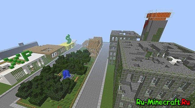 Скачать карту для майнкрафт разрушенный город