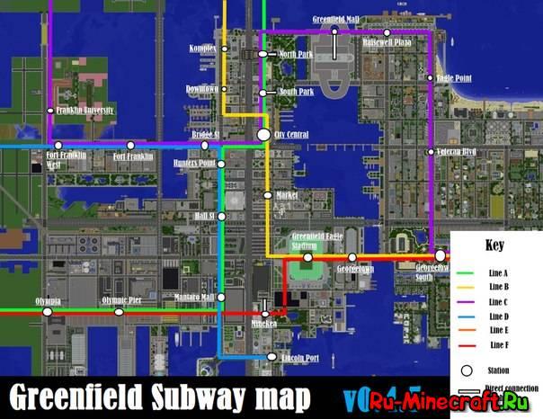 Скачать карту Greenfield для Minecraft 1.7.10/1.7.9