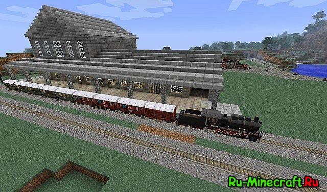 Minecraft железная дорога