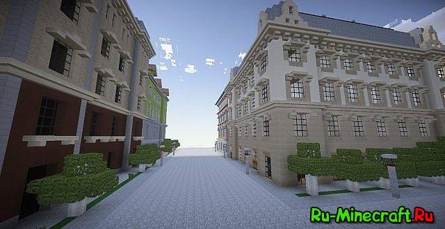 карта майнкрафт город париж