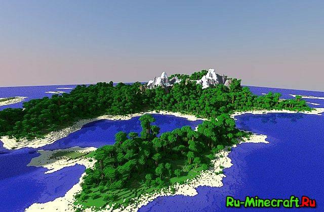 Скачать карту для майнкрафт красивый остров