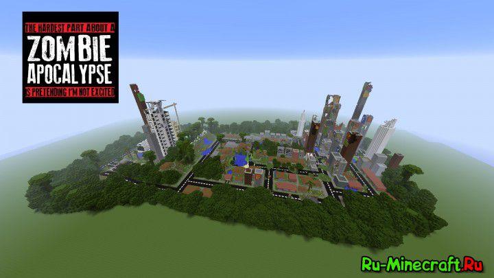 Скачать карту зомби апокалипсис для майнкрафт 1.8.3